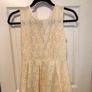 Cream Colored Lace Dress